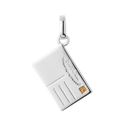 Sterling Silver Postcard Charm, , hires