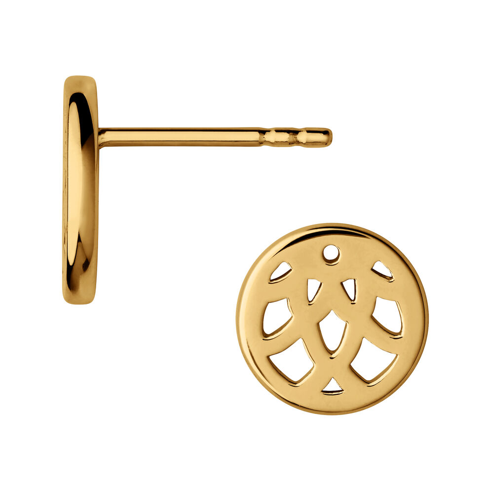 Timeless 18kt Yellow Gold Vermeil Stud Earrings, , hires