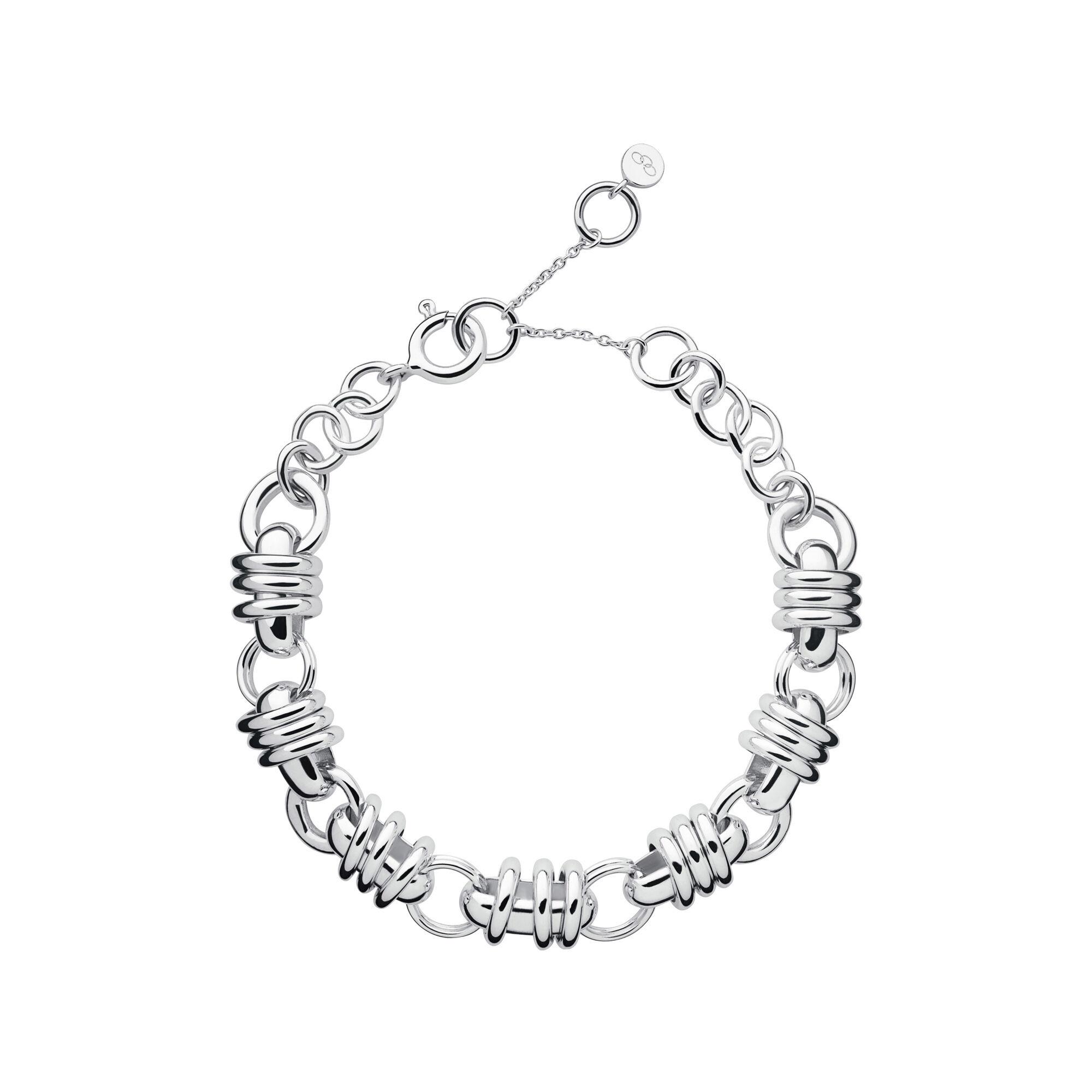 Sweetie Silver Chain Charm Bracelet