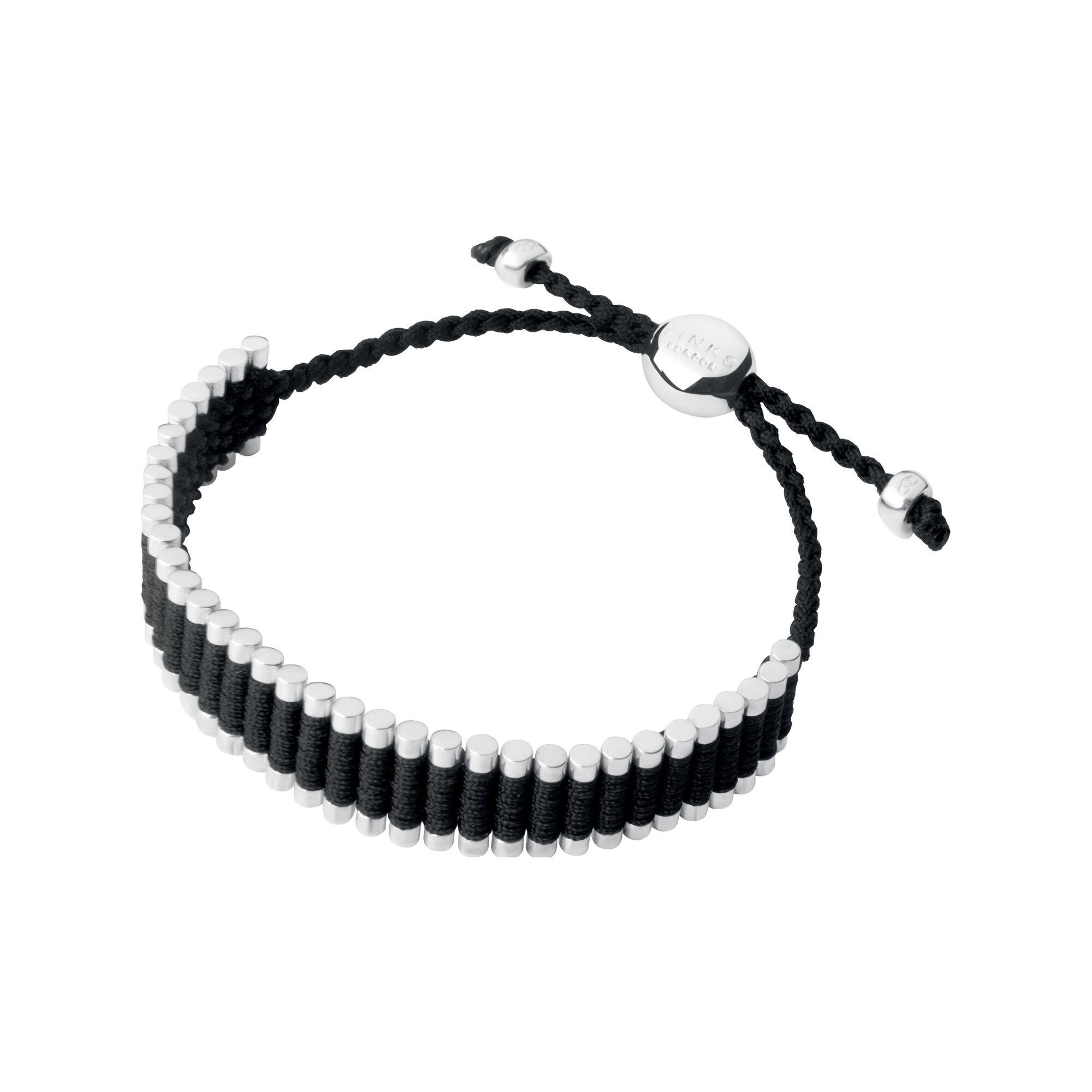 Silver Amp Black Cord Friendship Bracelet Links Of London