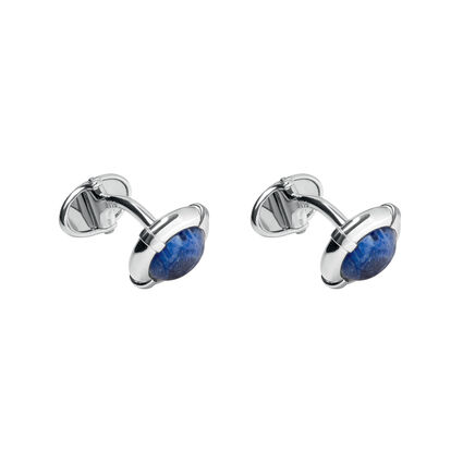 Sterling Silver Sodalite Cufflinks, , hires