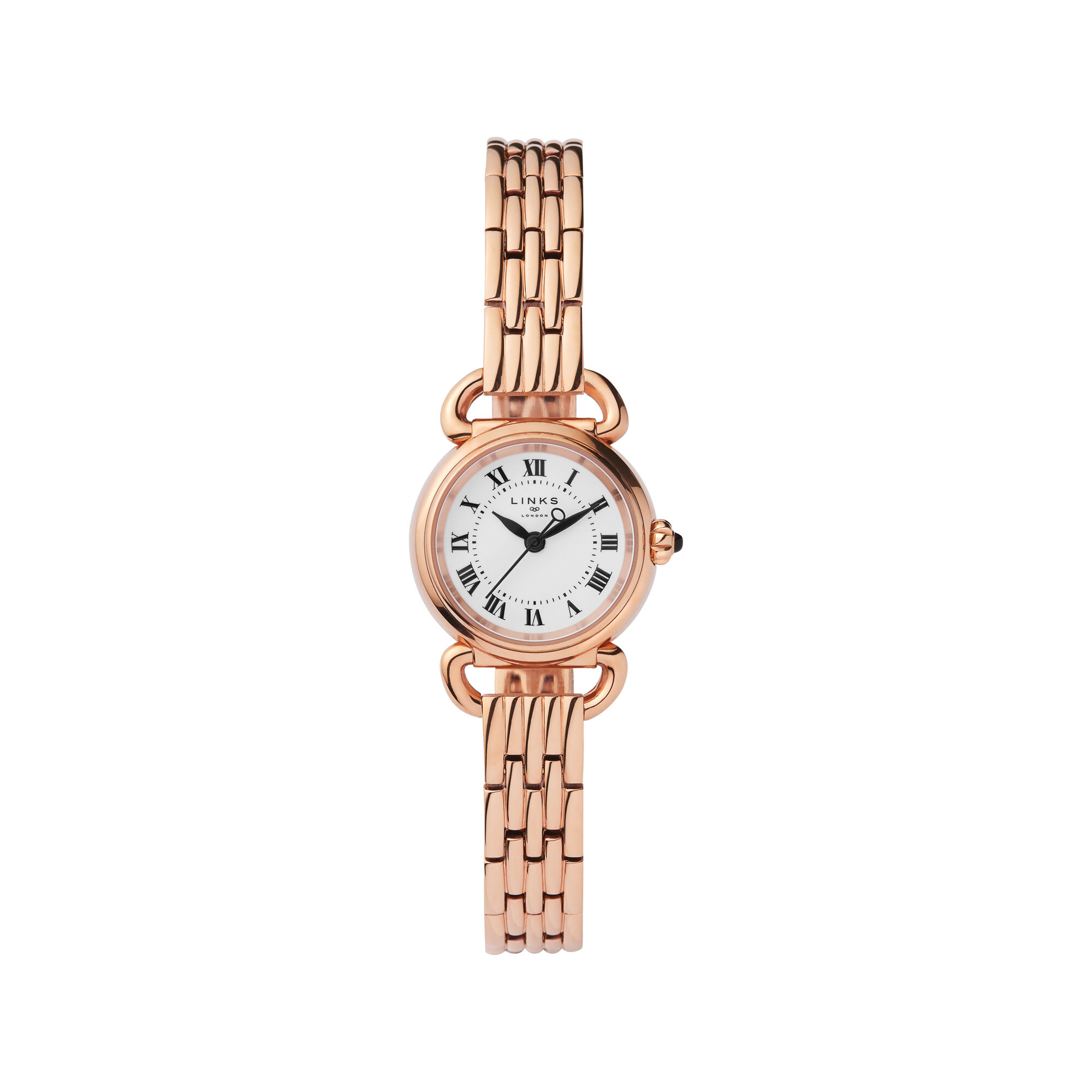 stainless slim normal gold pink lyst in product rose runway chainlink goldtone gallery watches michael chain tone watch link accessories kors steel