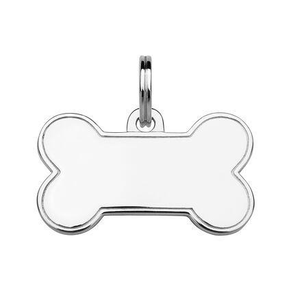 Sterling Silver Bone Dog Tag, , hires