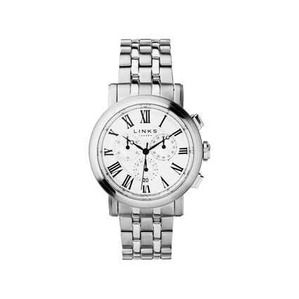 Richmond Mens Stainless Steel Chronograph Bracelet Watch, , hires