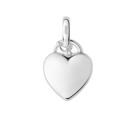 Sterling Silver Heart Padlock Charm, , hires