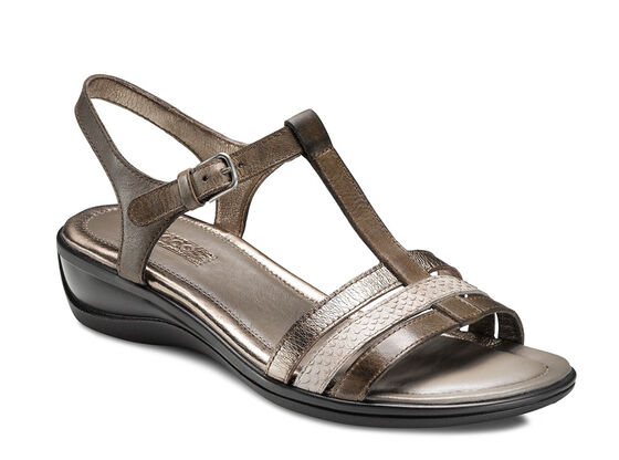 ECCO Sensata Sandal (DARK CLAY/MOON ROCK/WARM GREY M.)