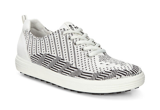 ECCO Womens Casual Hybrid Knit (WHITE-BLACK/WHITE)
