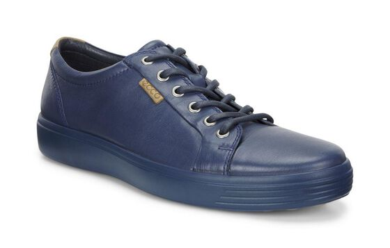 ECCO Mens Soft 7 Sneaker (TRUE NAVY/TRUE NAVY)