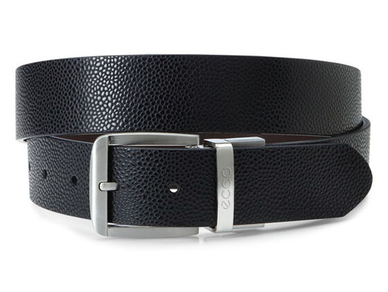 ECCO Dailey Mens Belt (BLACK/COFFEE)