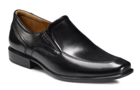 ECCO Cairo Apron Toe Slip On (BLACK)