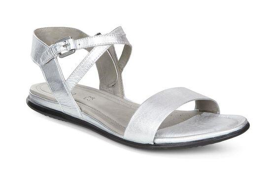 ECCO Touch Ankle Sandal (SILVER METALLIC)