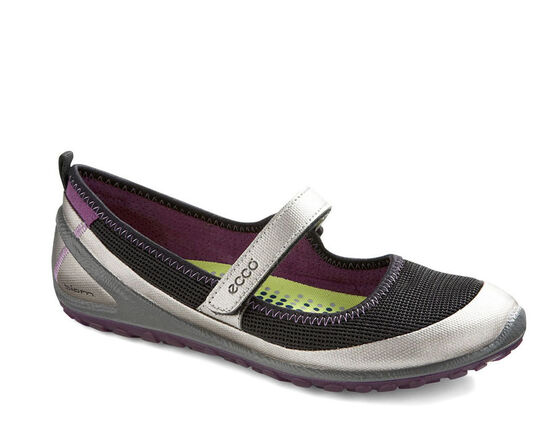 ECCO Womens BIOM Mary Jane (SILVER METALLIC/BLACK/IMPERIAL PURPLE)