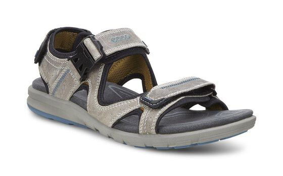ECCO Mens Cruise Sandal (MOON ROCK/PETROL)
