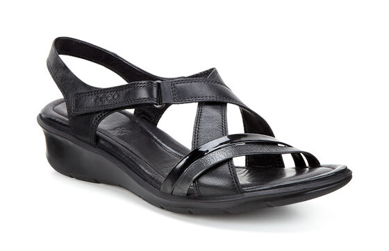 ECCO Felicia Sandal (BLACK/BLACK)