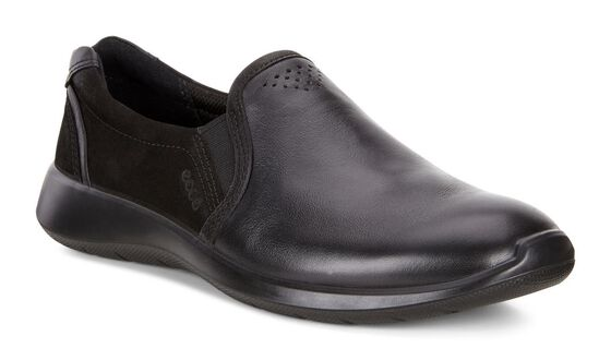 ECCO Soft 5 Slip On (BLACK/BLACK)