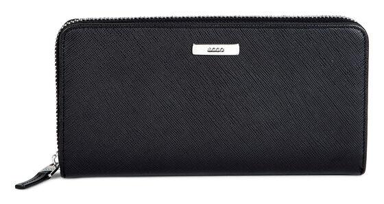 ECCO Haya Large Zip Wallet (BLACK)
