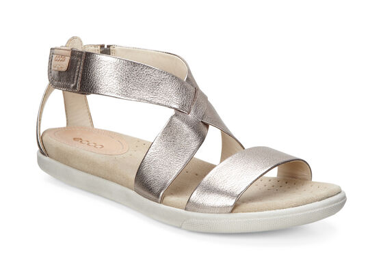 ECCO Damara Strap Sandal (WARM GREY METALLIC)