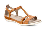ECCO Flash T-Strap SandalECCO Flash T-Strap Sandal in LION (02021)