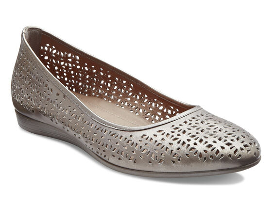 ECCO Touch Laser Cut Ballerina (MOON ROCK)