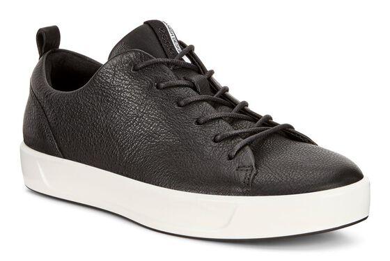 ECCO Womens Soft 8 Sneaker (BLACK)