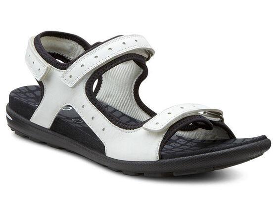 ECCO Jab Strap Sandal (WHITE/BLACK)