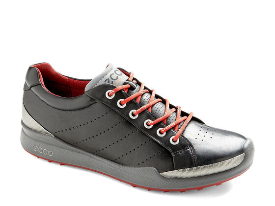 ECCO Mens BIOM Golf Hybrid (BLACK/BRICK)