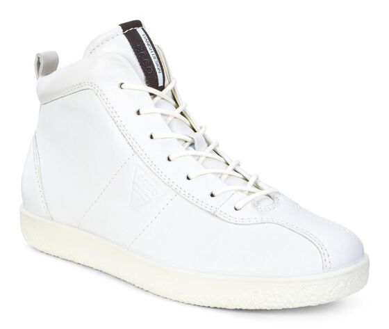 ECCO Womens Soft 1 High Top (WHITE)