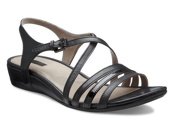 ECCO Touch 25 Strap Sandal (BLACK/BLACK)