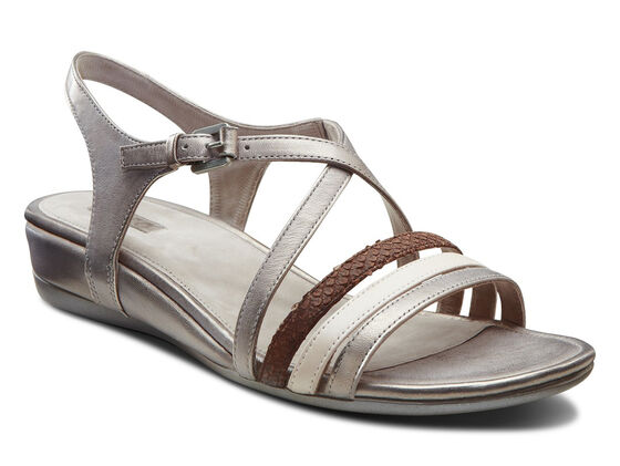ECCO Touch 25 Strap Sandal (MOON ROCK/ROSE DUST/COFFEE)