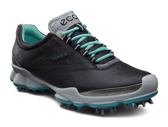 ECCO Womens BIOM Golf Lace (BLACK/TURQUOISE)