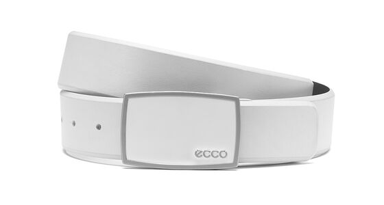 ECCO Golf Enamel Belt (OFFWHITE)