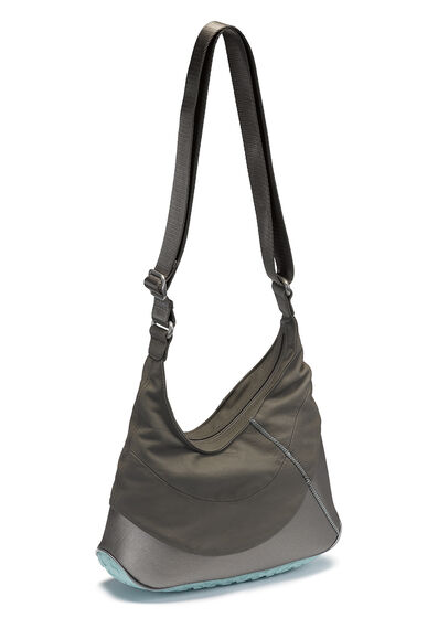 ECCO Performance Lite Hobo Bag (WARM GREY/EMERALD)