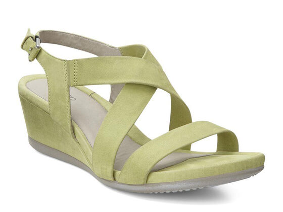 TOUCH WEDGE SANDAL Cross 45mm (LIME)