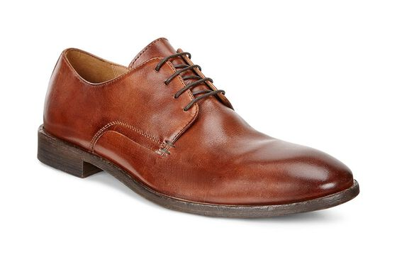 ECCO Leeds Plain Toe Tie (AMBER)