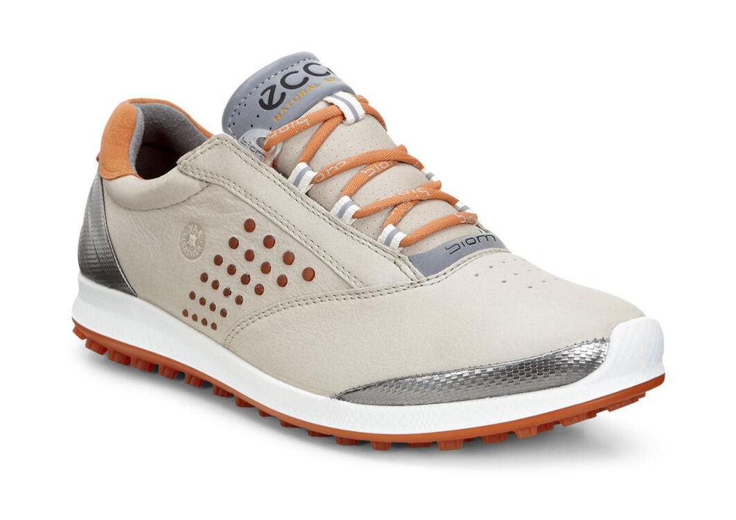 ECCO Golf - BIOM Hybrid 2 (Oyster/Orange) Women's Golf Shoes