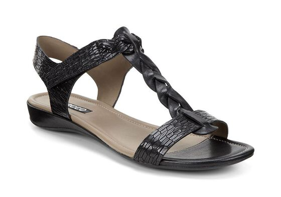 ECCO Bouillon Knot Sandal II (BLACK/BLACK)