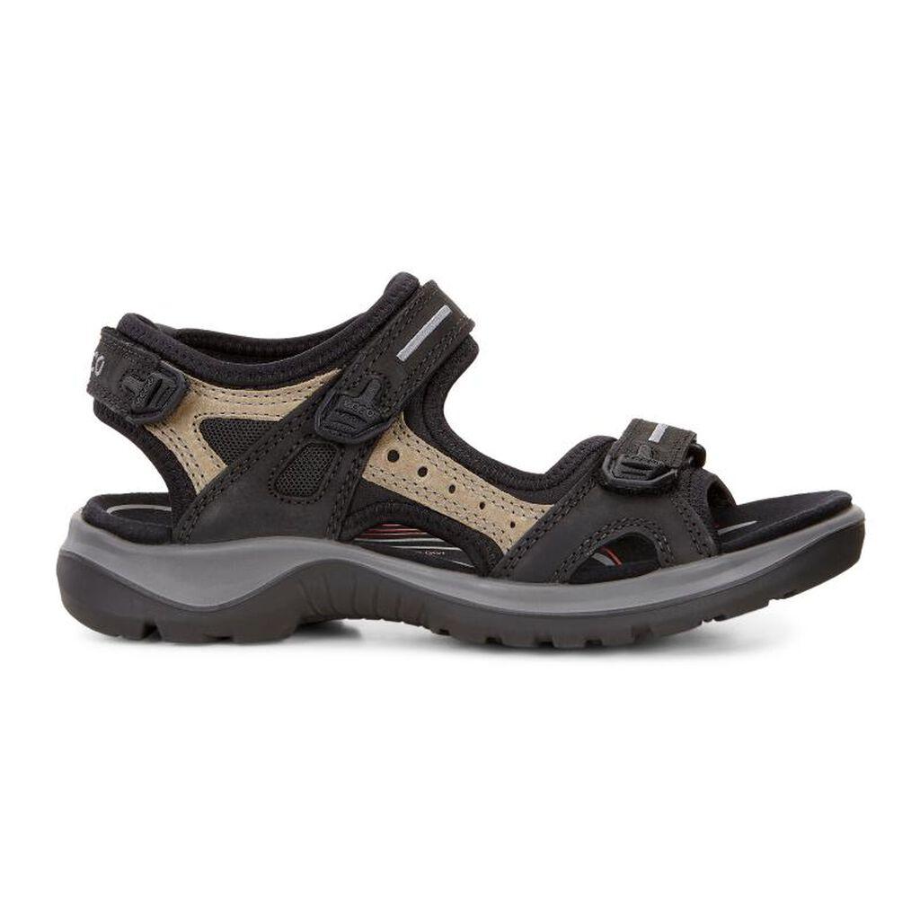 Black ecco sandals -  Ecco Womens Yucatan Sandalecco Womens Yucatan Sandal In Black Mole Black 50034