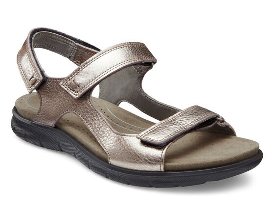 ECCO Babett Sport Sandal (WARM GREY METALLIC)
