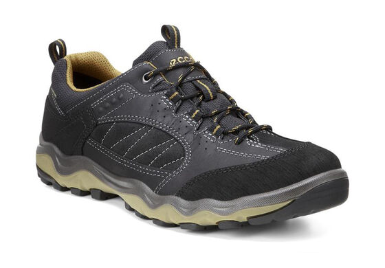 ECCO Mens Ulterra Lo GTX (BLACK/BLACK/DRIED TOBACCO)
