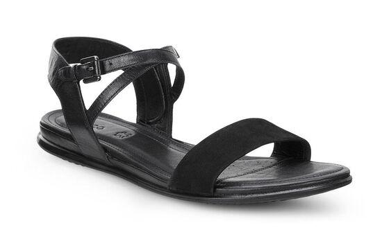 ECCO Touch Ankle Sandal (BLACK/BLACK)