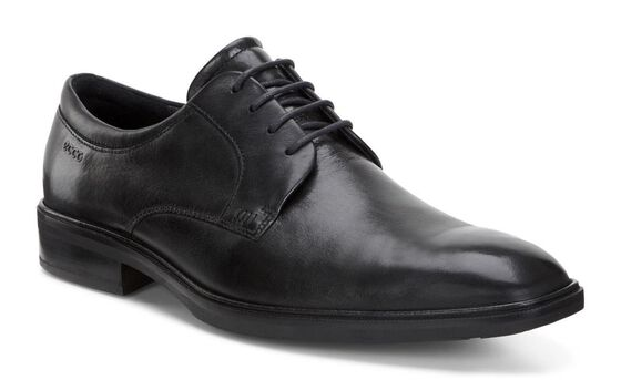 ECCO Illinois Plain Toe Tie (BLACK)