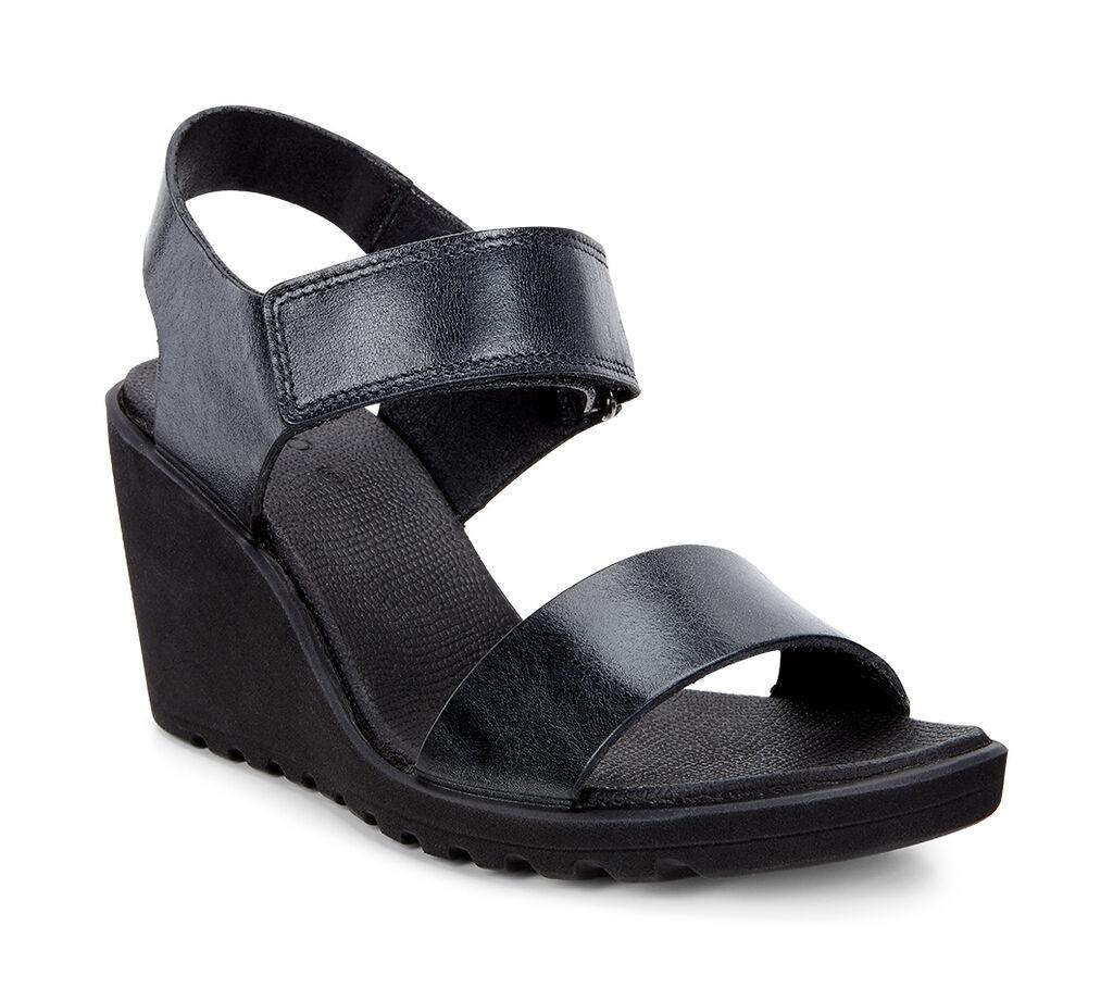 Black ecco sandals - Ecco Freja Wedge Sandalecco Freja Wedge Sandal In Black 02001