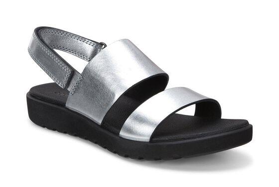 ECCO Freja 2 Strap Sandal (SILVER METALLIC)