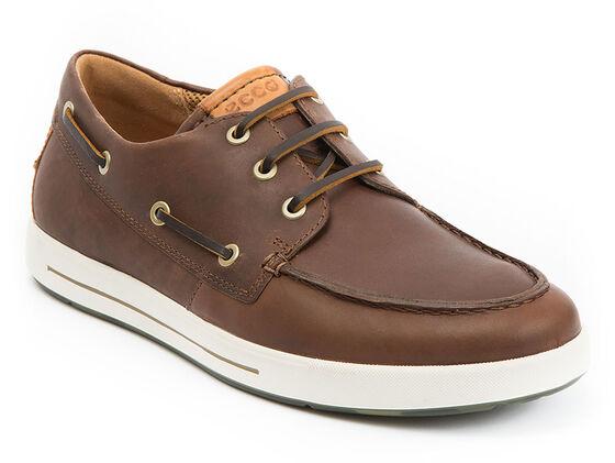 ECCO Eisner Boat Shoe (BISON/LION)