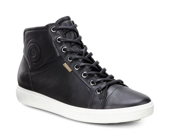 ECCO Womens Soft 7 High Top (BLACK)