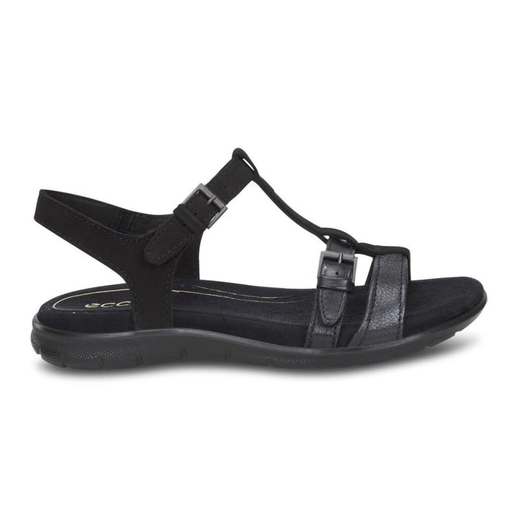 Black ecco sandals -  Ecco Babett Sandal T Strapecco Babett Sandal T Strap In Black Black