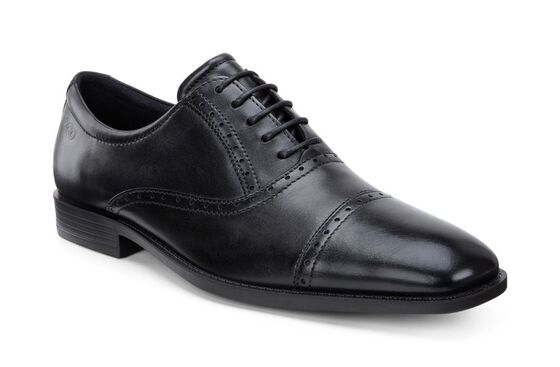 ECCO Edinburgh Cap Toe Tie (BLACK)