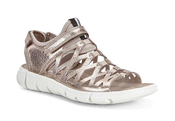 ECCO Womens Intrinsic Sandal 2 (WARM GREY METALLIC/MOON ROCK)