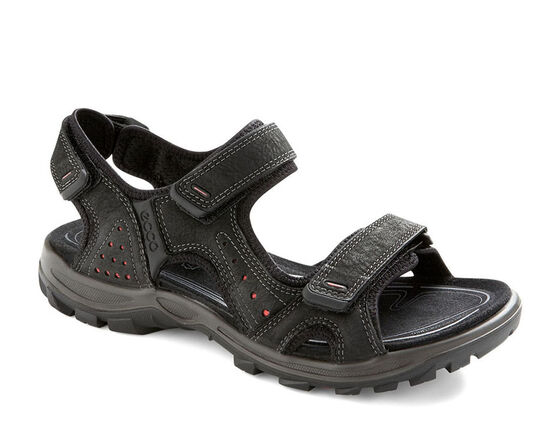 ECCO Womens Cheja Sandal (BLACK/POPPY)