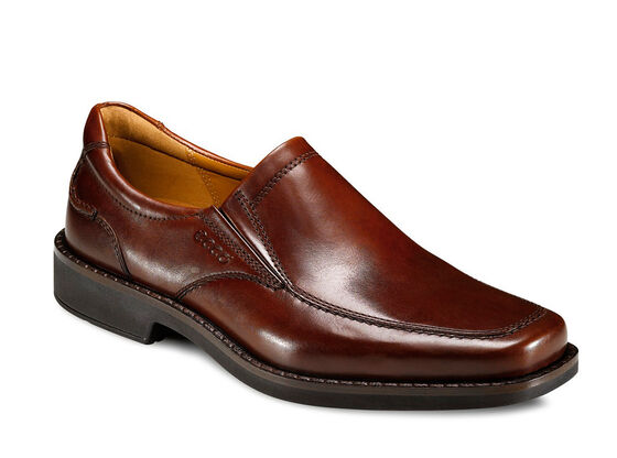 ECCO Seattle Apron Toe Slip On (COGNAC)